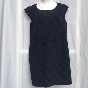 Voir Voir Navy Blue Polkadotted Stealth dress 18